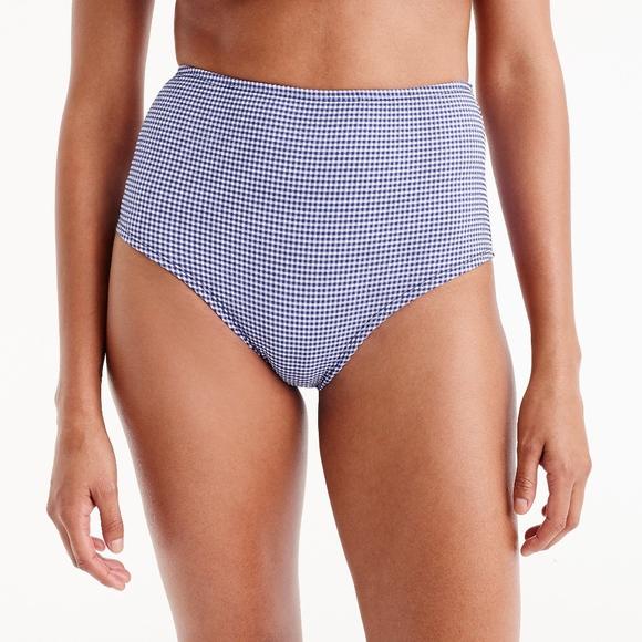 d2de7e3718a J. Crew Other - J.Crew High Waisted Tiny Gingham Bikini Bottom